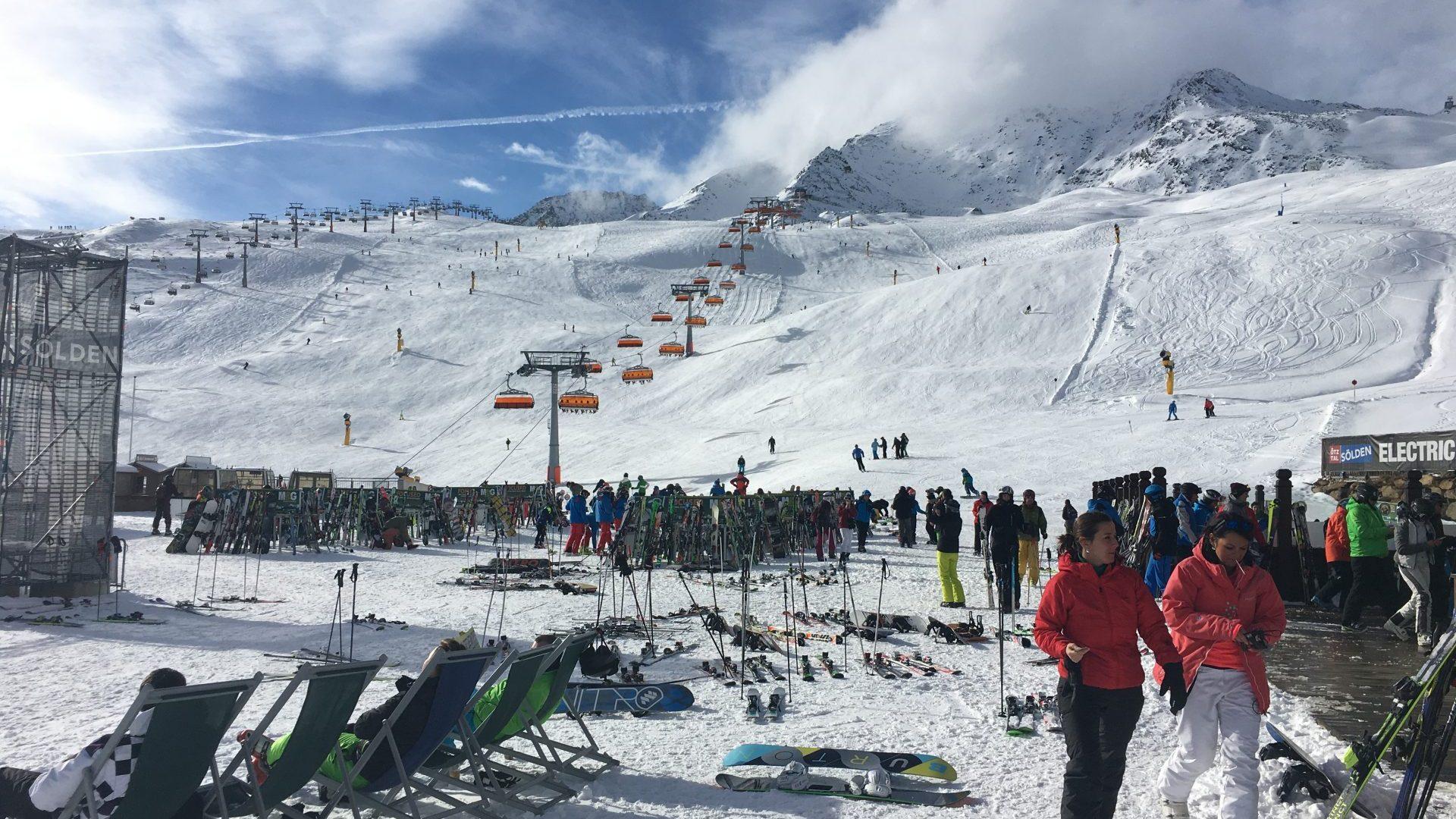 Après-Skifahrt Nach Sölden